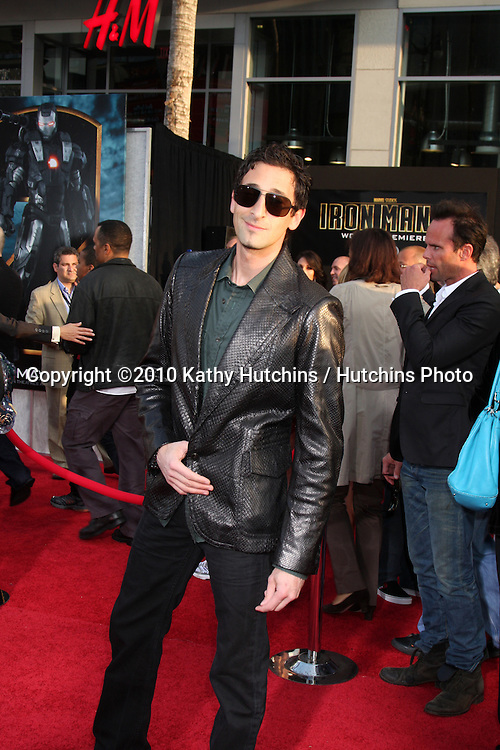 "Adrien Brody.arrives at  the ""Iron Man 2"" Premiere.El Capitan Theater.Los Angeles, CA.April 26, 2010.©2010 Kathy Hutchins / Hutchins Photo..."