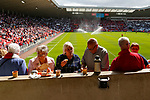 Sunderland fans enjoy tea and biscuits at half time. Sunderland 2 Portsmouth 1, 17/08/2019. Stadium of Light, League One. Photo by Paul Thompson.