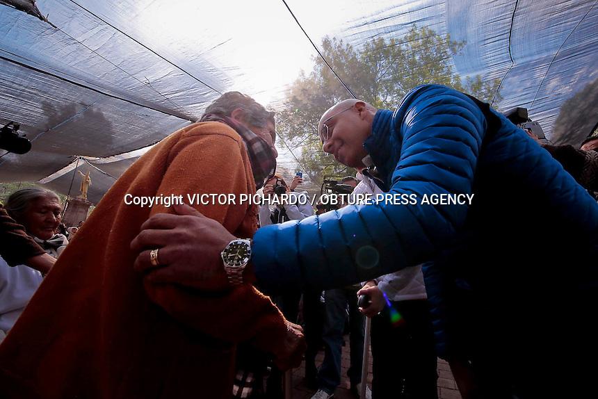 Quer&eacute;taro, Qro. 26 DE FEBRERO 2016.-<br /> El alcalde capitalino, Marcos Aguilar Vega y su esposa, encabezaron la ceremonia inaugural del programa &quot;Jalando Parejo con el Adulto Mayor&quot; en un evento realizado en las instalaciones de la Alameda Hidalgo en la delegaci&oacute;n Centro Hist&oacute;rico.<br /> Foto: Victor Pichardo / Obture Press Agency