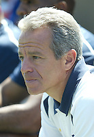 Chicago Fire head coach Dave Sarachan before his team's MLS match against the San Jose Earthquakes on April 10, 2004 at Spartan Stadium in San Jose, California.  The game ended in a scoreless tie.