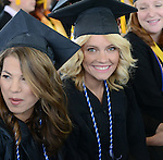 Brittany Allen watches the 2015 Western Nevada College Commencement held at the Pony Express Pavilion in Carson City, Nev., on Monday, May 18, 2015.<br /> Photo by Tim Dunn