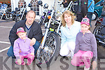 .Looking at the bikes at the Irish Motorbike rally in the Gleneagle Hotel Killarney on Saturday was l-r: Laura, karena, Donie and Donna Buckley Crosstown, Killarney.