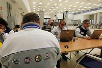 POMIGLIAND'ARCO ( NAPOLI) STABILIMENTO GIANBATTISTA VICO PRESENTAZIONE DELLA LINEA DI PRODUZIONE DELLA NUOVA FIAT PANDA NELLA FOTO   FOTO CIRO DE LUCA