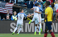 Seattle, WA - June 16, 2016: The U.S. Men's National team go up 1-0 over Ecuador from a goal by Clint Dempsey in Quarterfinal action at the 2016 Copa America Centenario at CenturyLink Field.