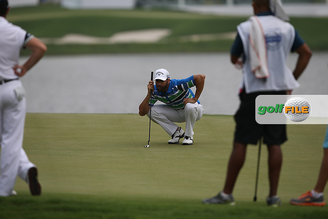 Alvaro Quiros (ESP) added a 68 which included an eagle on 17th during Round Two of the 2014 Volvo China Open, Genzon Golf Club, Shenzhen, China. Picture:  David Lloyd / www.golffile.ie