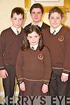 Pictured at the Killarney Credit Union National Schools quiz in the Gleneagle hotel, Killarney on Sunday were Aoife Sheehan, Sean Crowley, Oisín O'Shea and Darragh Elbel, Lissivigeen.