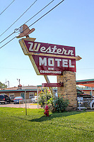 The Western Motel on Route 66 in Bethany Oklahoma.