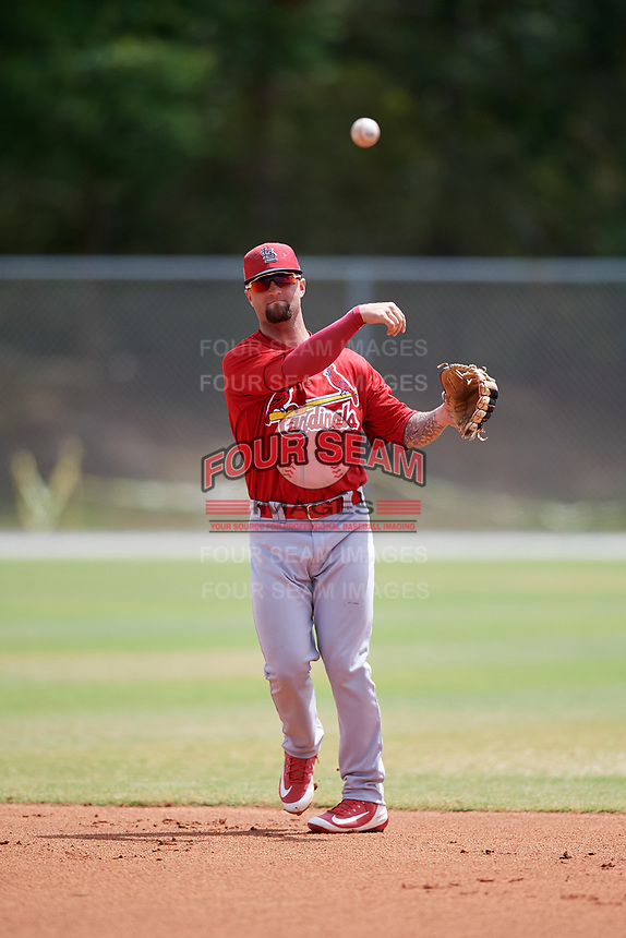 St. Louis Cardinals Taylor Bryant (28) during a Minor League Spring Training game against the Houston Astros on March 27, 2018 at the Roger Dean Stadium Complex in Jupiter, Florida.  (Mike Janes/Four Seam Images)