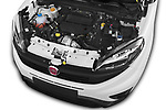 Car stock 2016 Fiat Doblo Pack 4 Door Cargo Van engine high angle detail view