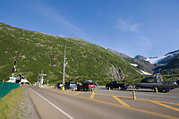 Road to Portage from Whittier, at the tunnel entrance through the Chugach mountains.