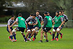 Akira Ioane carries the ball. Maori All Blacks Tour of Fiji. Training at Kings College, Otahuhu, Auckland. July 7 2015. Photo: Marc Weakley