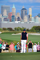 Phil Mickelson (USA) looks over his putt on 16 during round 2 Four-Ball of the 2017 President's Cup, Liberty National Golf Club, Jersey City, New Jersey, USA. 9/29/2017.<br /> Picture: Golffile | Ken Murray<br /> <br /> All photo usage must carry mandatory copyright credit (&copy; Golffile | Ken Murray)