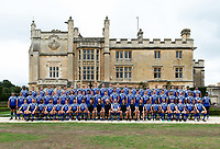 Bath Rugby pose for a team photo. Bath Rugby Media Day on August 14, 2018 at Farleigh House in Bath, England. Photo by: Patrick Khachfe / Onside Images