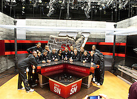 December  05, 2011 - Bristol, CT - ESPN Campus:  Texas A&M Women's Basketball team stops on the SportsNation set during their tour or the ESPN Campus...Credit: /ESPN