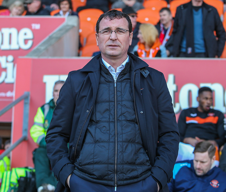 Blackpool manager Gary Bowyer <br /> <br /> Photographer Alex Dodd/CameraSport<br /> <br /> The EFL Sky Bet League Two - Blackpool v Hartlepool United - Saturday 25th March 2017 - Bloomfield Road - Blackpool<br /> <br /> World Copyright &copy; 2017 CameraSport. All rights reserved. 43 Linden Ave. Countesthorpe. Leicester. England. LE8 5PG - Tel: +44 (0) 116 277 4147 - admin@camerasport.com - www.camerasport.com