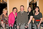 8934-8939.SUPPORTERS: Enjoying the Kerry GAA supporters club annual social last Saturday night in the Ballygarry House Hotel, Tralee were l-r: Bernie Broderick, Christina Casey, Jer Broderick, Siobhan O'Shea and Claire O'Shea.