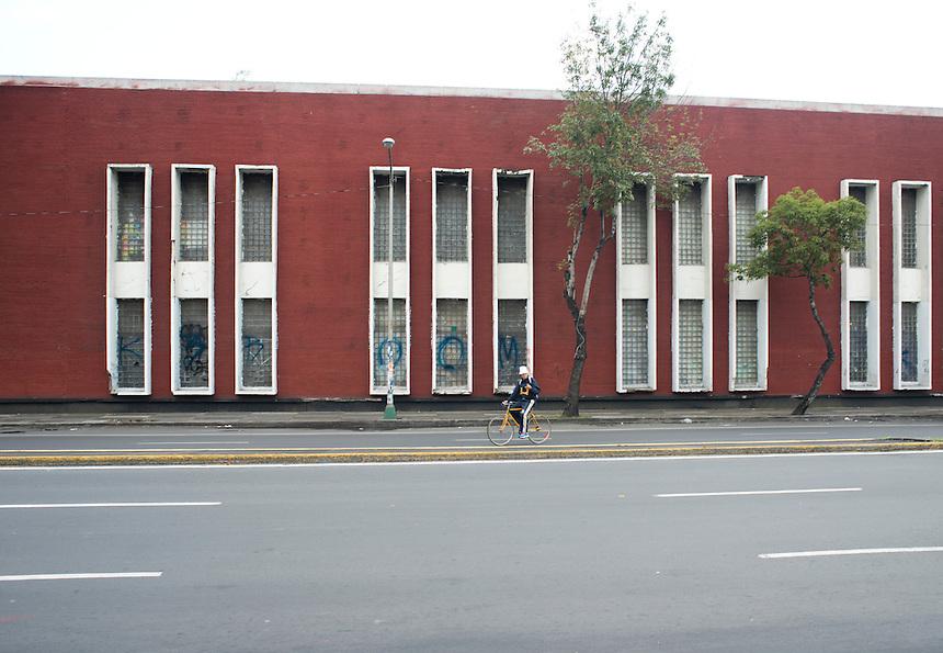 """Escuela Nacional de Maestros or """"La Normal"""" Mario Pani. Avenida Mexico Tacuba, Mexico DF"""