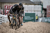 Nicolas Cleppe (BEL/Telenet Baloise Lions) plowing through the sandbox<br /> <br /> Jaarmarktcross Niel 2019 (BEL)<br /> <br /> ©kramon