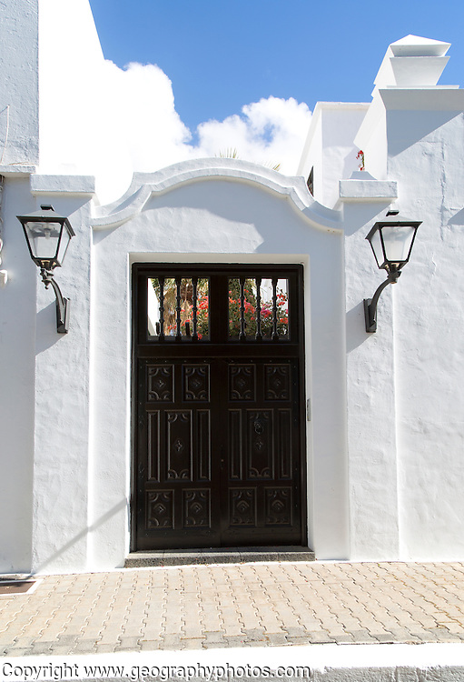 Doorway of historic house in Yaiza, Lanzarote, Canary Islands, Spain