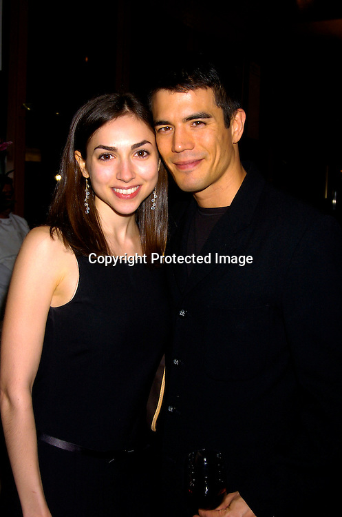 Eden Riegel and boyfriend Ryan Stewart..at the 12th Annual Gala for The League for the Hard of Hearing called Feast With Famous Faces on October 18, 2004 at JP Morgan Chase. ..Photo by Robin Platzer, Twin Images