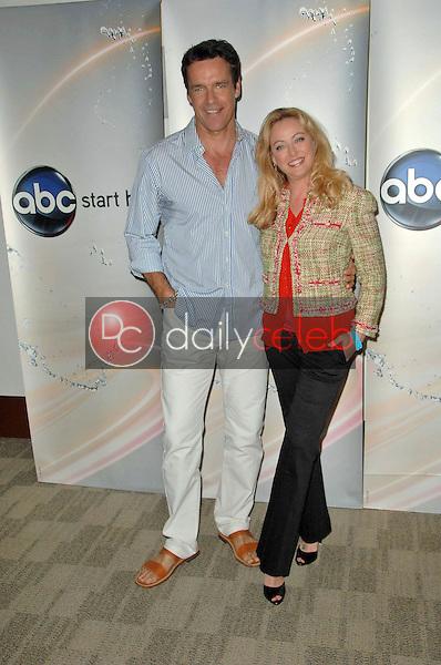 David James Elliott and Virginia Madsen<br /> at the Disney ABC Television Group Summer Press Junket, ABC Studios, Burbank, CA. 05-15-10<br /> David Edwards/Dailyceleb.com 818-249-4998
