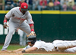 Cincinnati Reds' second baseman Brandon Philips tags out Seattle Mariners'  Willie Bloomquist, who was trying to steal in the third inning at Safeco Field in Seattle on June 24, 2007.  Jim Bryant Photo. ©2010. ALL RIGHTS RESERVED.