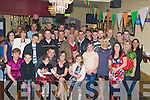 ENGAGEMENT: Paul Donovan, Brendans Park, Tralee (3rd from left) who announced his engagement to Margaret Sheridan Marian Park, Tralee, (seated 4th from left) in the Slieve Mish Bar, Boherbee, Tralee on Friday night. were many of their family and friends gated to celebrate the ocassion...