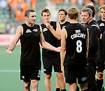 The Hague, Netherlands, June 10: Phil Burrows #18 of New Zealand gestures after the field hockey group match (Men - Group B) between New Zealand and The Netherlands on June 10, 2014 during the World Cup 2014 at Kyocera Stadium in The Hague, Netherlands. Final score 1-1 (0-1) (Photo by Dirk Markgraf / www.265-images.com) *** Local caption ***
