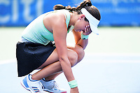 Washington, DC - August 4, 2019: Jessica Pegula (USA) celebrates after defeating Camila Giorgi (ITA) in the WTA Citi Open Woman's Finals at Rock Creek Tennis Center, in Washington D.C. (Photo by Philip Peters/Media Images International)