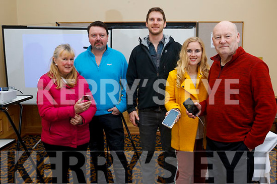 At the Mobile Film Workshop in the Brandon Hoetel on Saturday morning last, l-r,  Maura Ni Leabha, Mark Leen, Owen Murphy, Andrea Thornton and Bob Corkey.