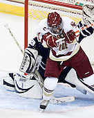 Brian Gibbons (BC - 17), Russ Brownell (Toronto - 29) - The Boston College Eagles defeated the visiting University of Toronto Varsity Blues 8-0 in an exhibition game on Sunday afternoon, October 3, 2010, at Conte Forum in Chestnut Hill, MA.