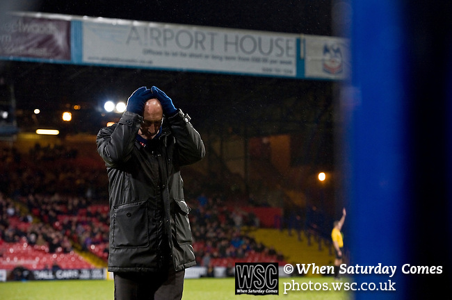 Crystal Palace 1 Huddersfield Town 1, 22/12/2012. Selhurst Park, Championship. Promotion chasing Crystal Palace aim to halt a poor run of form against lowly Huddersfield. Ian Holloway rues a near miss. Photo by Simon Gill.
