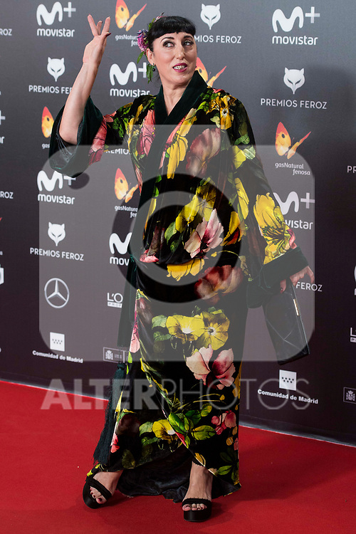 Rossy de Palma attends red carpet of Feroz Awards 2018 at Magarinos Complex in Madrid, Spain. January 22, 2018. (ALTERPHOTOS/Borja B.Hojas)