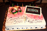 """BEVERLY HILLS - OCT 19: Cake at the """"Intimate Illusions"""" headliner Ivan Amodei's 400th show celebration at the Beverly Wilshire Hotel on October 19, 2013 in Beverly Hills, California"""