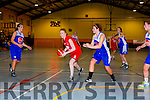 Amy Reidy Team Den Joes and Amy Fitzgerald Team Garveys in action in Castleisland on Saturday night