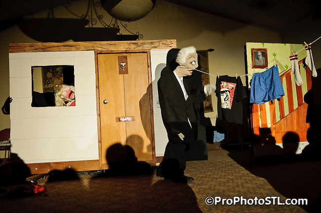 """Angry Young Men puppet show featuring """"Night of the Living Dead"""" during Contamination Convention 2011 in St. Louis, MO on June 25, 2011."""