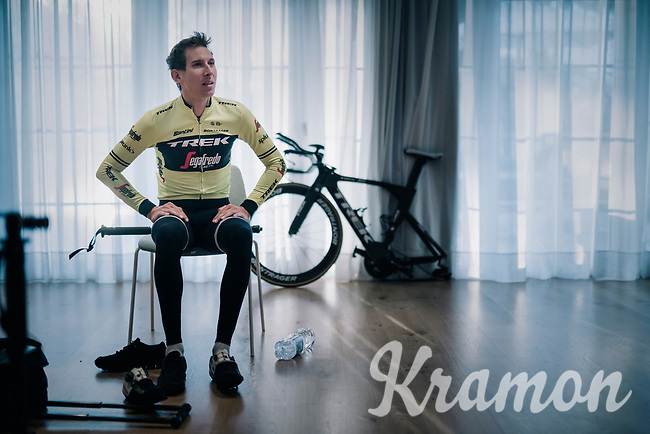 Bike-fit session for Bauke Mollema (NED/Trek-Segafredo) <br /> <br /> Team Trek-Segafredo men's team<br /> training camp<br /> Mallorca, january 2019<br /> <br /> ©kramon