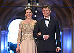 "CROWN PRINCE FREDERIK AND CROWN PRINCESS MARY OF DENMARK.attend the gala farewell dinner for Queen Beatrix.at the Rijksmuseum in Amsterdam, The Netherlands_April 29, 2013..Crwon Prince Willem-Alexander and Crown Princess Maxima will be proclaimed King and Queen  of The Netherlands on the abdication of Queen Beatrix on 30th April 2013..Mandatory Credit Photos: ©Utrecht/NEWSPIX INTERNATIONAL..**ALL FEES PAYABLE TO: ""NEWSPIX INTERNATIONAL""**..PHOTO CREDIT MANDATORY!!: NEWSPIX INTERNATIONAL(Failure to credit will incur a surcharge of 100% of reproduction fees)..IMMEDIATE CONFIRMATION OF USAGE REQUIRED:.Newspix International, 31 Chinnery Hill, Bishop's Stortford, ENGLAND CM23 3PS.Tel:+441279 324672  ; Fax: +441279656877.Mobile:  0777568 1153.e-mail: info@newspixinternational.co.uk"