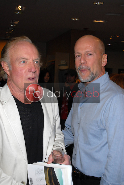 """James Caan and Bruce Willis<br /> at a celebration of Jerry Weintraub's New Book """"When I Stop Talking You'll Know I'm Dead,"""" Barney's New  York, Beverly Hills, CA. 05-18-10<br /> David Edwards/Dailyceleb.com 818-249-4998"""