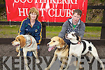 At the Hound Show in Garrai Glas, Kenneigh, on Friday were Karen & Eoin O'Leary with Truman, Drummer & Cody.