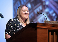 "Katelyn Fink '19 introduces<br /> The 2019 Occidental College Phi Beta Kappa speaker Kimberlé Crenshaw, a law professor, civil rights advocate and intersectional theorist, gave her lecture, ""Thirty Years of Theorizing Justice: Intersectionality, Critical Race Theory and Contemporary Issues"" on April 5, 2019 in Thorne Hall.<br /> Underwritten by the Ruenitz Trust Fund Endowment in honor of Dr. and Mrs. Robert C. Ruenitz.<br /> Kimberlé Williams Crenshaw is an American civil rights advocate and a leading scholar of critical race theory. She is a full­time professor at the UCLA School of Law and Columbia Law School, where she specializes in race and gender issues. Her work on race and gender was influential in the drafting of the equality clause in the South African Constitution. In 2001, she was instrumental in facilitating the inclusion of gender in the declaration of the United Nations' World Conference on Racism. In the domestic arena, she has served as a member of the National Science Foundation's committee to research violence against women, and has assisted the legal team representing Anita Hill.<br /> (Photo by Marc Campos, Occidental College Photographer)"