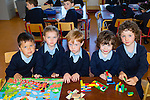 New students<br /> -------------------<br /> Starting their first day at school at Clogher NS last Tuesday were Diarmuid Scanlon, Regan Zhang Catelynn Scanlon, Tadhg O'Connor and Dylan Scanlon