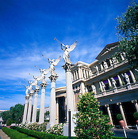Las Vegas, Nevada, USA - Angels blowing Trumpets at Caesars Palace along The Strip (Las Vegas Boulevard)