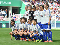 20170527 - KOELN , GERMANY : Sand's team  pictured during the final of German Women's Cup 2017 - Pokal Final Frauen , a soccer women game between SC Sand and holders VfL Wolfsburg  , at the Rhein Energie Stadion , saturday 27 th Mayl 2017 . PHOTO SPORTPIX.BE | DIRK VUYLSTEKE