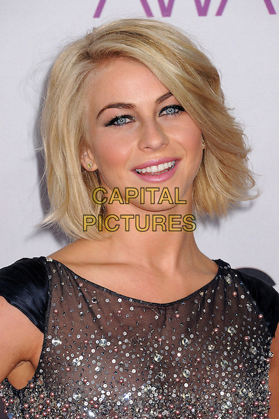 Julianne Hough.People's Choice Awards 2013 - Arrivals held at Nokia Theatre L.A. Live, Los Angeles, California, USA..January 9th, 2013.headshot portrait silver blue beads beaded .CAP/ADM/BP.©Byron Purvis/AdMedia/Capital Pictures.