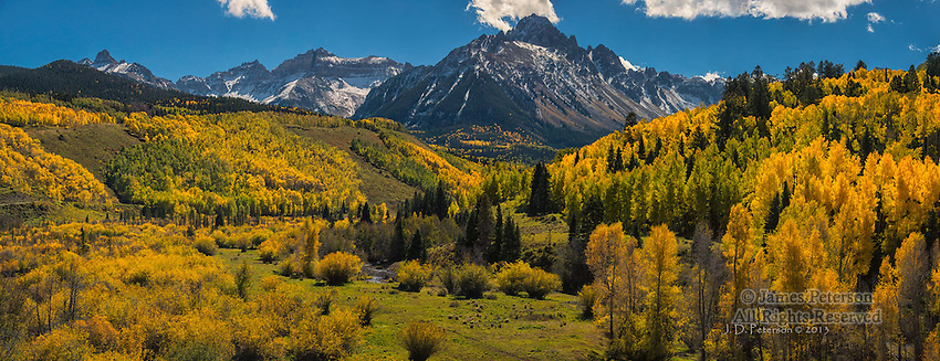 Mount Sneffels above Dallas Creek, San Juan Mountains, Colorado