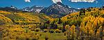 Mount Sneffels above Dallas Creek, San Juan Mountains, Colorado