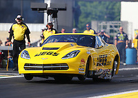 Jun 5, 2015; Englishtown, NJ, USA; NHRA pro pro mod driver Troy Coughlin Sr during qualifying for the Summernationals at Old Bridge Township Raceway Park. Mandatory Credit: Mark J. Rebilas-