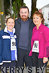 Pictured at the 10K run Summer Solstice in aid of the Irish heart foundation in Tralee on Saturday from left   Lisa o'sullivan (Ballymac) Tom O'Donnell (Ballymac) Mary O'Donnell (Tralee)