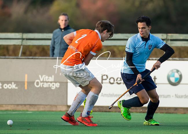 BLOEMENDAAL  - Daan van Os met  , competitiewedstrijd junioren  landelijk  Bloemendaal JA1-Nijmegen JA1 (2-2) . COPYRIGHT KOEN SUYK